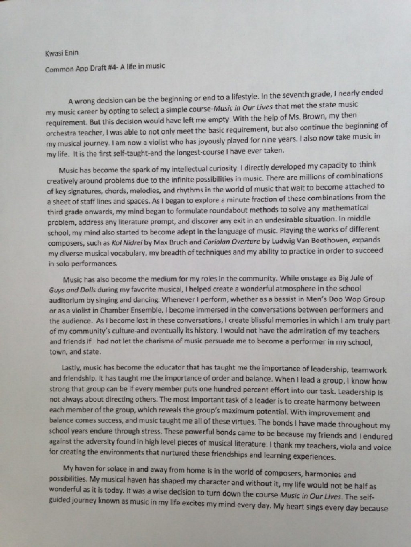 001 Essay Example Ivy League Essays Kwasi Enin Singular Tips Topics Help Large