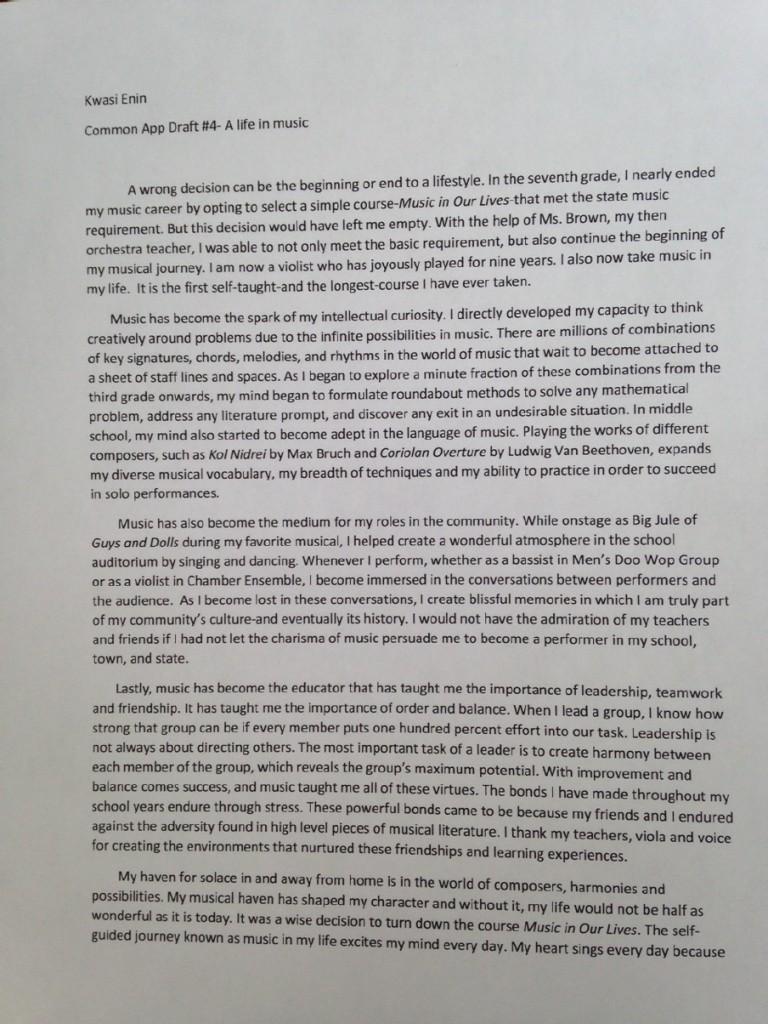 001 Essay Example Ivy League Essays Kwasi Enin Singular Tips Topics Help Full