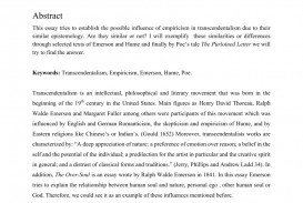 001 Essay Example Largepreview Impressive Transcendentalism Thesis By Emerson