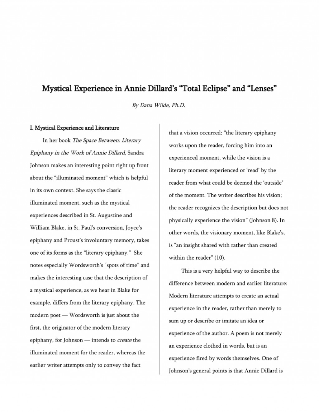 001 Essay Example Largepreview Annie Dillard Stirring Essays Stunt Pilot Pdf Large