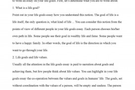 001 Essay Example Life Goals Narrative On Achieving Goal My Purpose In Exampl Examples Ambition Stunning A 320