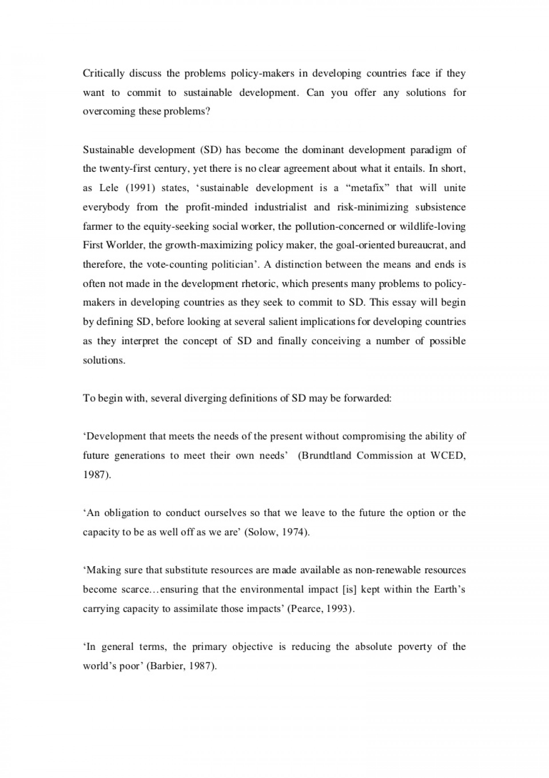 001 Essay Example Lva1 App6891 Thumbnail On Sustainable Development And Shocking Environment Conservation 1920