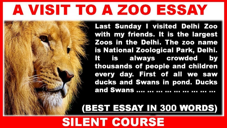 001 Essay Example Maxresdefault On Marvelous Zoo Visit To A For Class 10 Why Zoos Are Bad 960