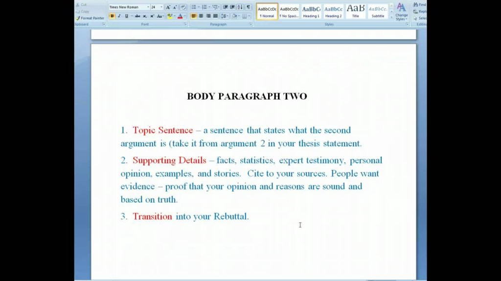 001 Essay Example Maxresdefault Parts Of Singular Argumentative Introduction Body Conclusion Evidence Brainly Large