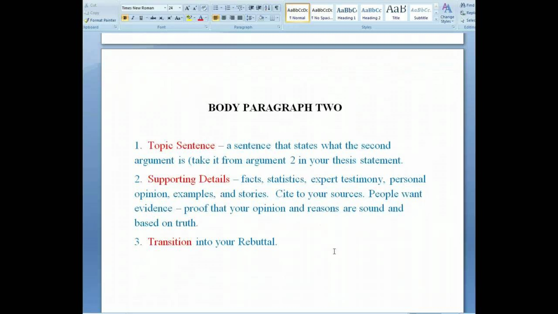 001 Essay Example Maxresdefault Parts Of Singular Argumentative Introduction Body Conclusion Grade 10 Evidence 1920
