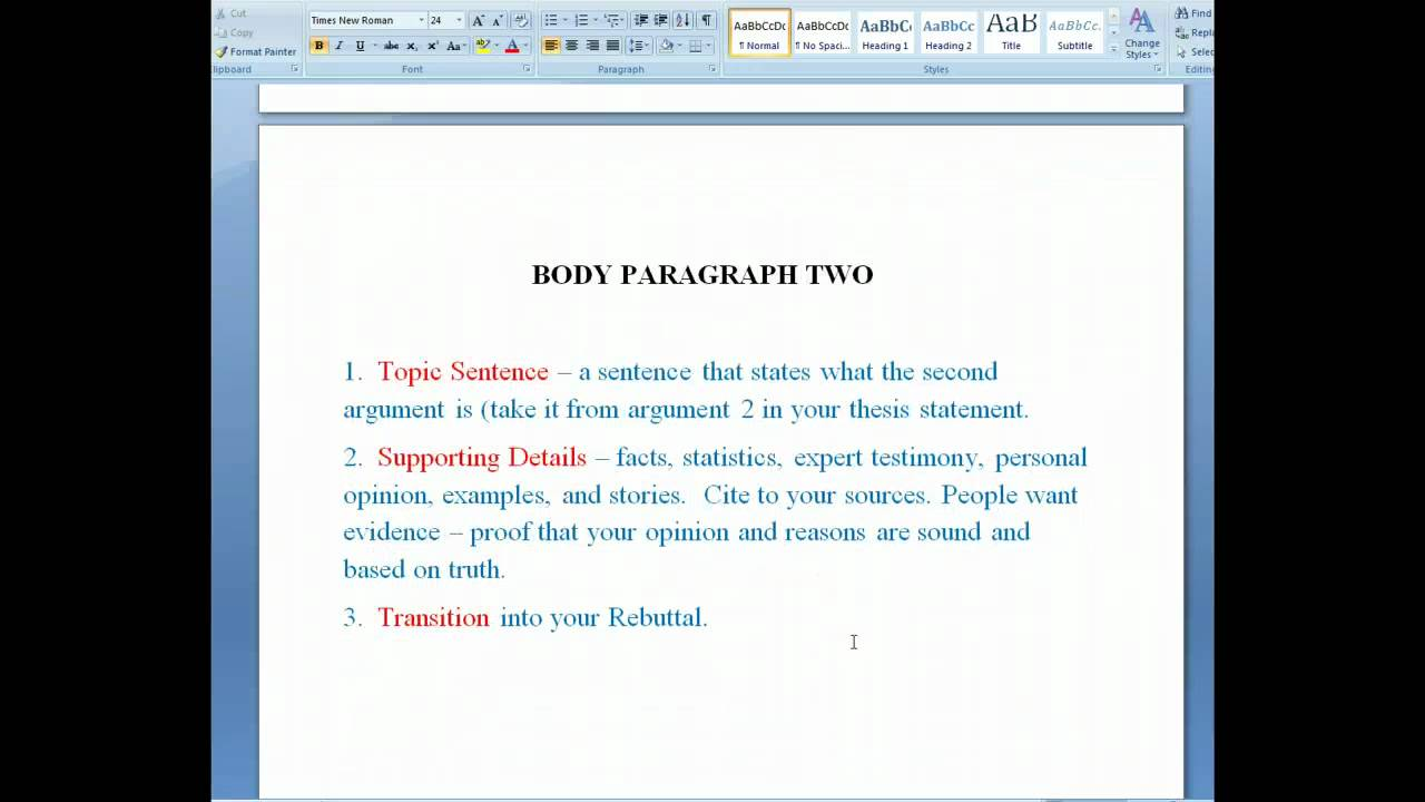 001 Essay Example Maxresdefault Parts Of Singular Argumentative Introduction Body Conclusion Evidence Brainly Full