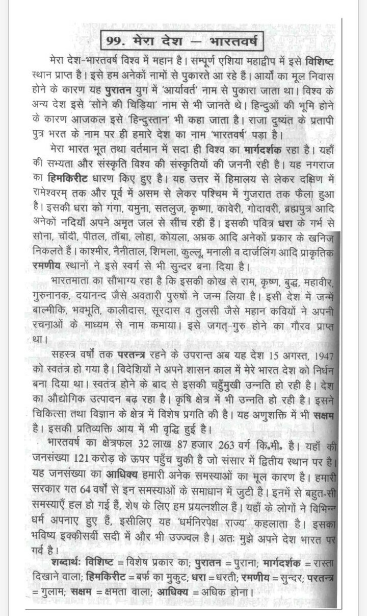 001 Essay Example My Country In Phenomenal Hindi 10 Lines Is Great Full