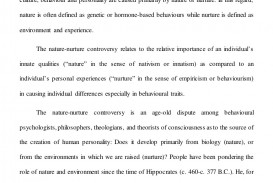 001 Essay Example Nature Vs Nurture Incredible Paper Outline Topics