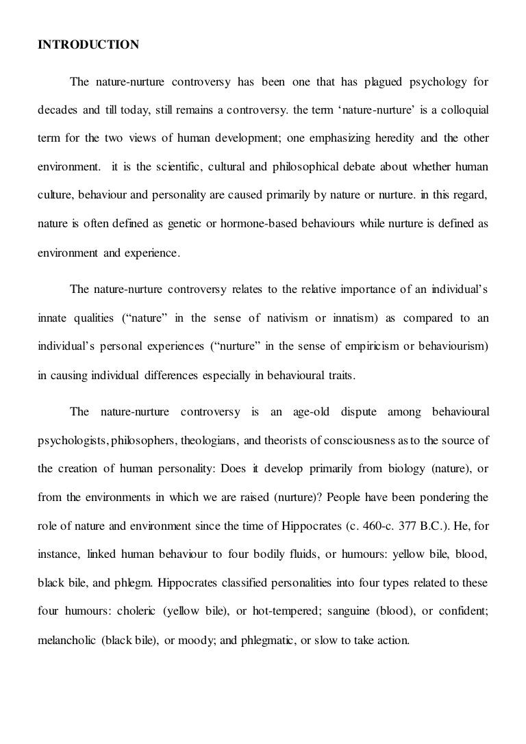 001 Essay Example Nature Vs Nurture Incredible Paper Outline Topics Full