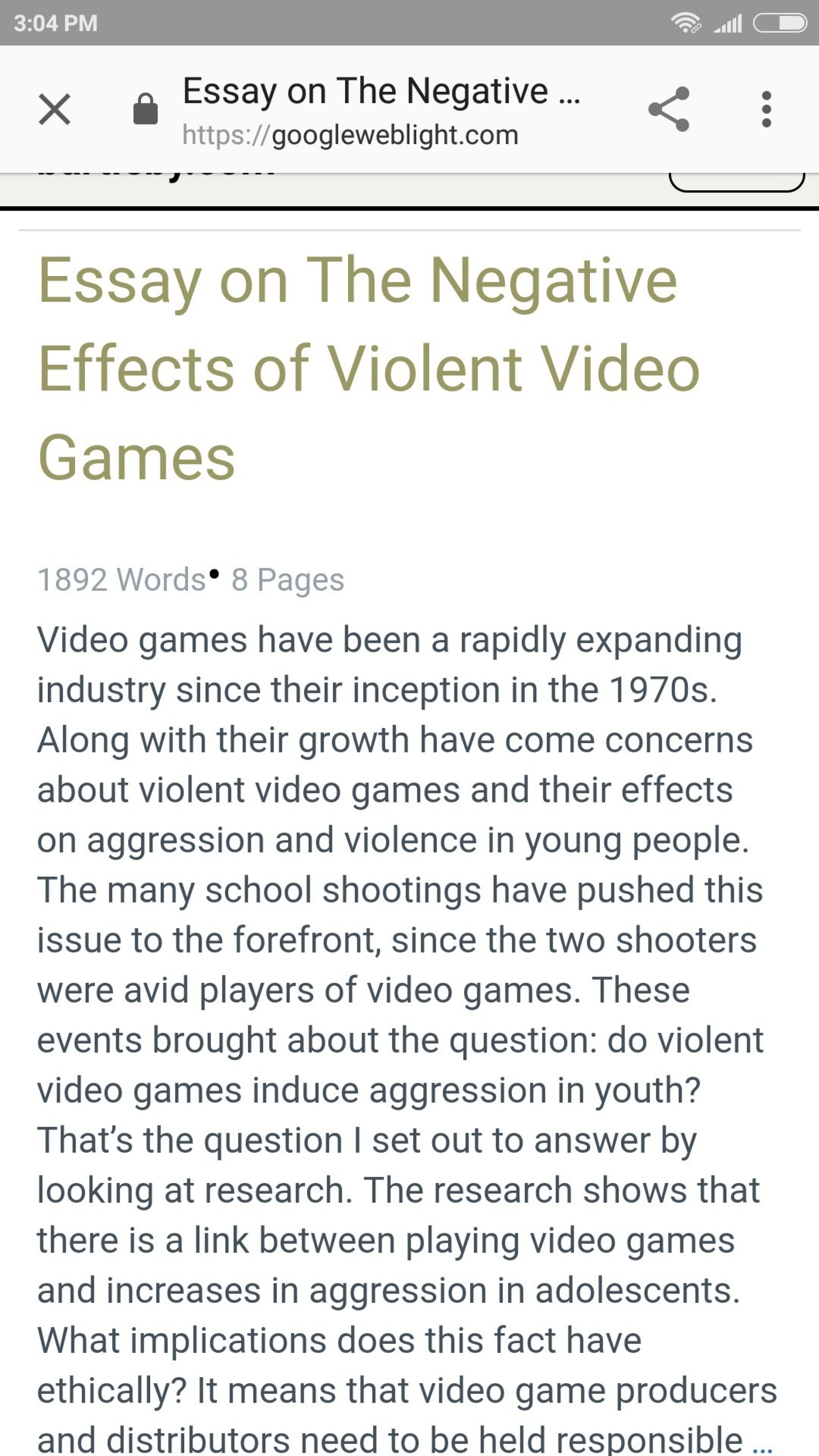 001 Essay Example Negative Effects Of Video Games Top 10 The Good And Bad Positive Pdf 1920
