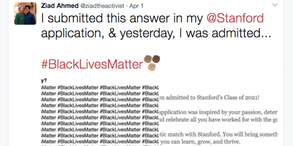 001 Essay Example New Twitter Crop Stanford Black Lives Awful Matter College Large