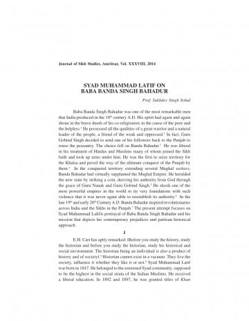 001 Essay Example On Banda Singh Bahadur In Punjabi Formidable Baba Language 360