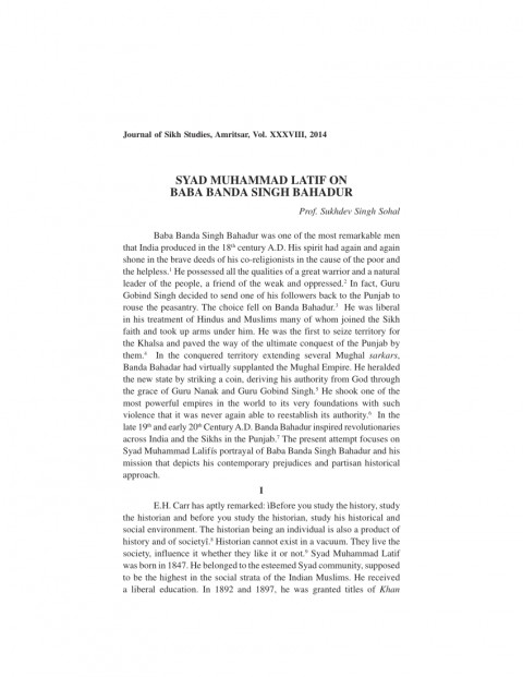 001 Essay Example On Banda Singh Bahadur In Punjabi Formidable Baba Language 480