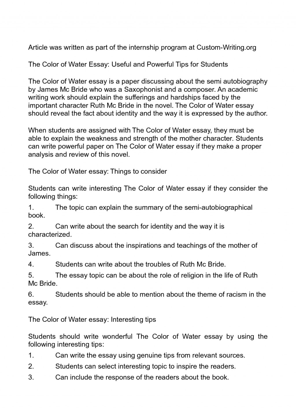 001 Essay Example On Water About Pollution Of For Students Unbelievable Writing Bottle Conservation Class 5 Cycle In English Large
