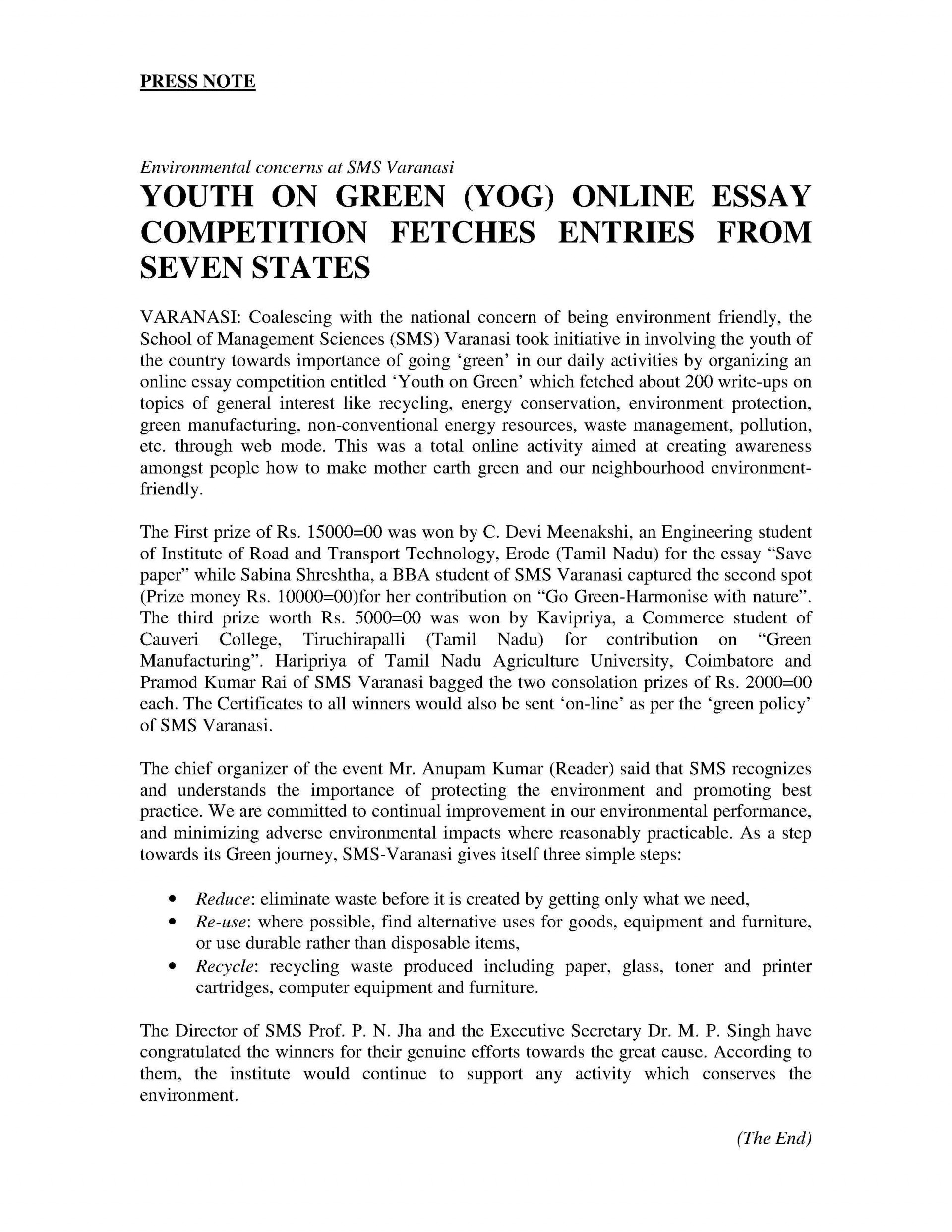 001 Essay Example Online Essays Yog Press Report1 Awesome Youth Empowerment In Tamil Of Karbi Festival On English 1920