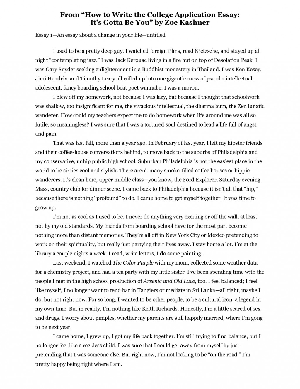 001 Essay Example Oyt5kbffja How To Write About Singular A Yourself Narrative Short Myself Paper Without Using I Large