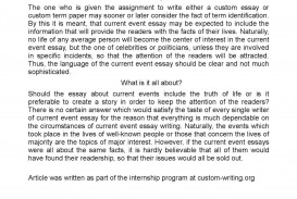 001 Essay Example P1 Current Stunning Event Questions