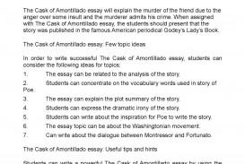 001 Essay Example P1 The Cask Of Unforgettable Amontillado Topics Conclusion