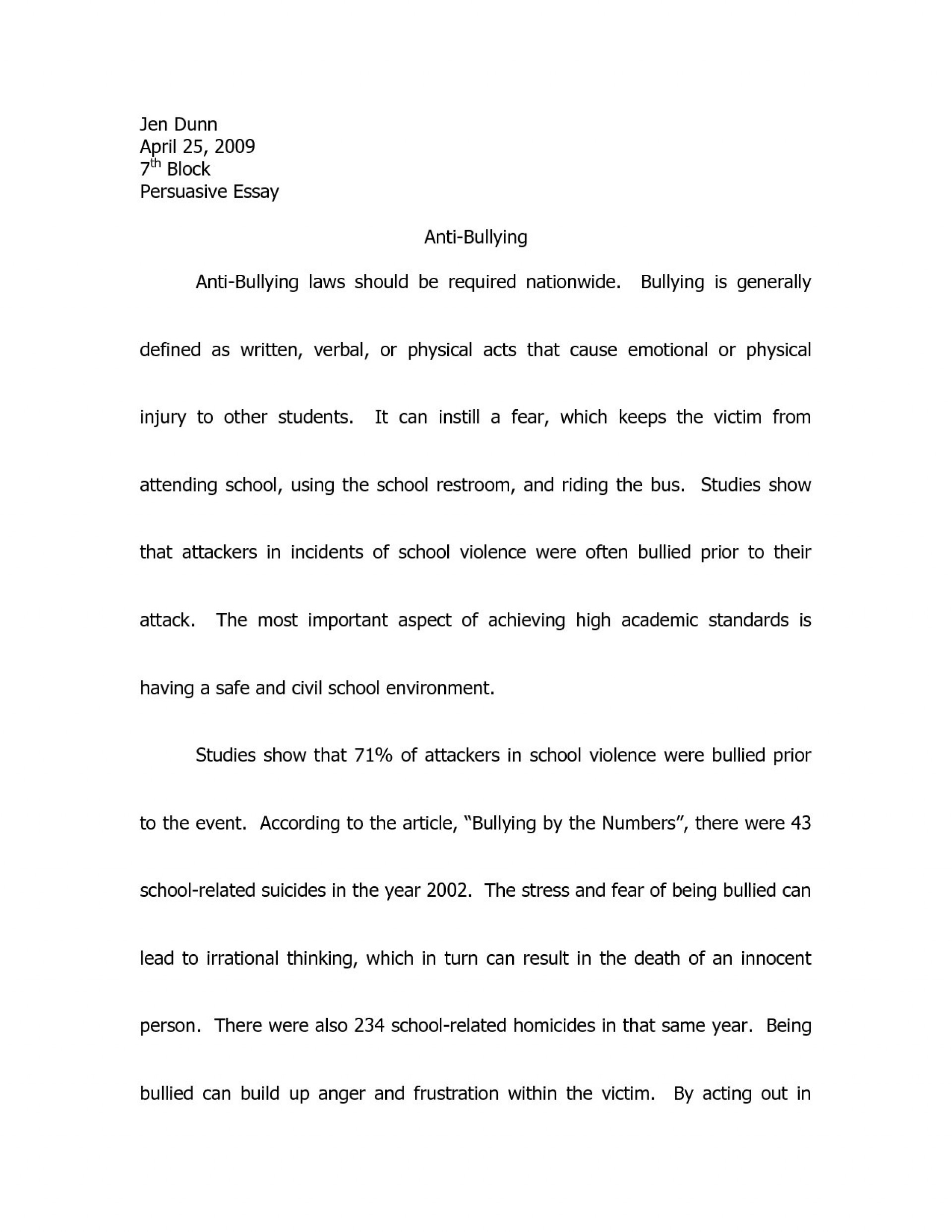 001 Essay Example Persuasive About Bullying On Speech Good Books To Write Essays Topics Cyberbullying Tudors Ks2 Websi Cyber Stunning In Schools Introduction Tagalog 1920