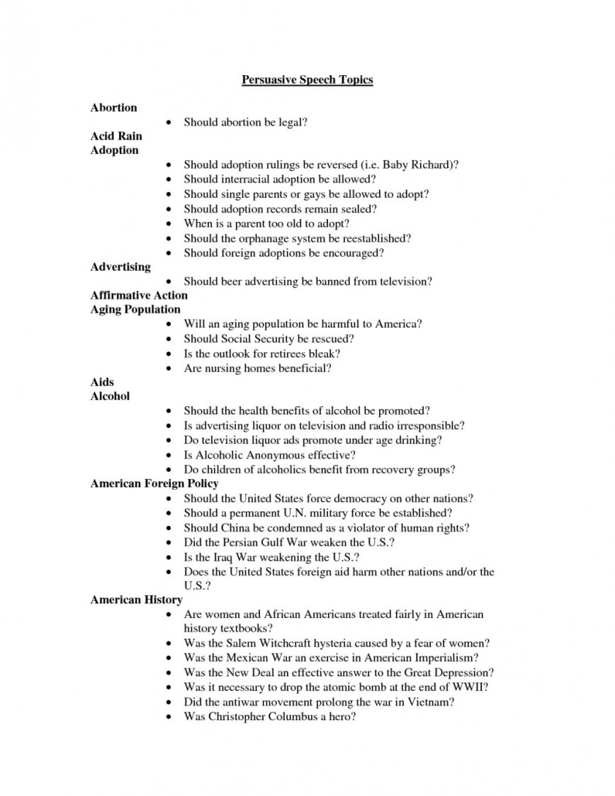 001 Essay Example Persuasive Topics For College Speech Audience Easy Elementary Stu Students High School Primary Middle 7th Graders Uk Unusual Hilarious Argumentative Level Unique
