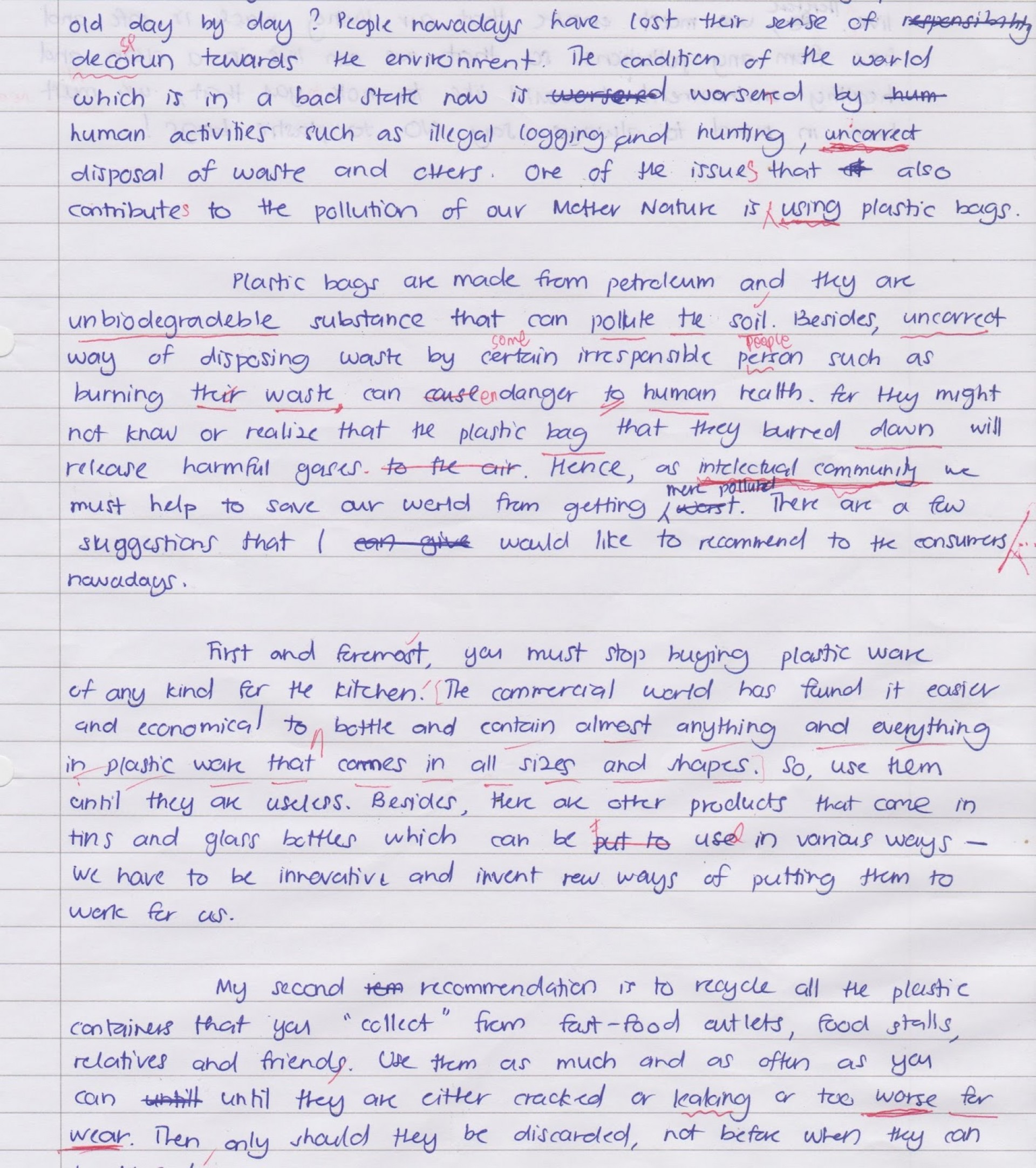 001 Essay Example Plastic Unforgettable Waste On Management In Hindi Recycling Topic 1920