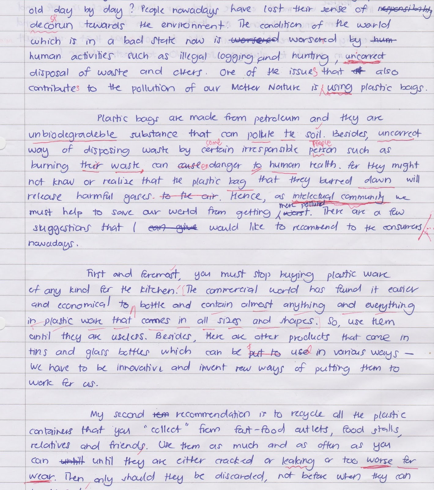 001 Essay Example Plastic Unforgettable Waste On Management In Hindi Recycling Topic Full