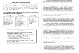 001 Essay Example Public Health And Individual Freedom Act Examples Dreaded