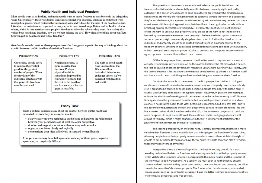 Dreaded public health and individual freedom act essay examples