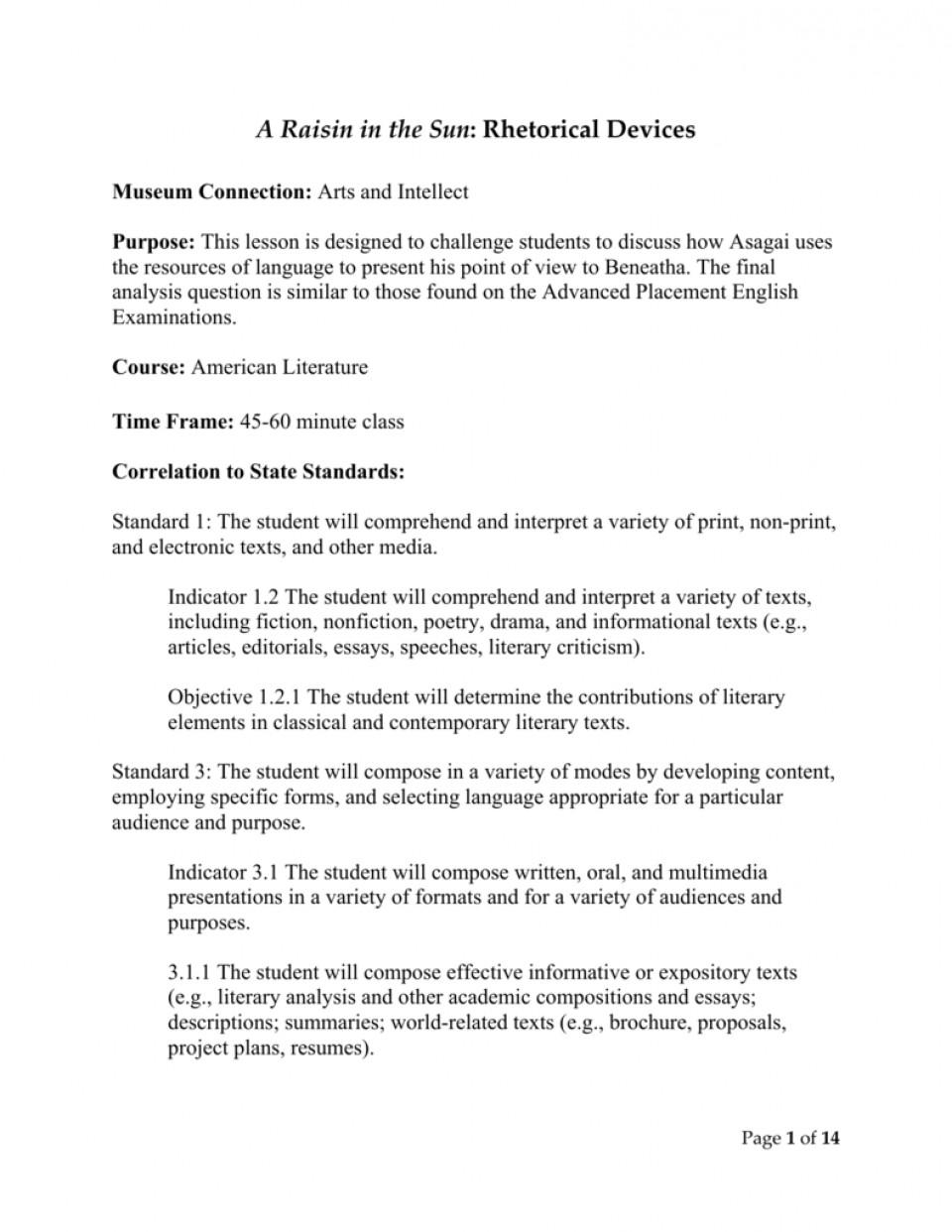 A Raisin In The Sun Essay Topics for Your Paper | TopicsMill