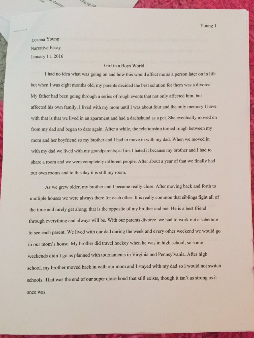 001 Essay Example Relationship With My Stupendous Parents Large
