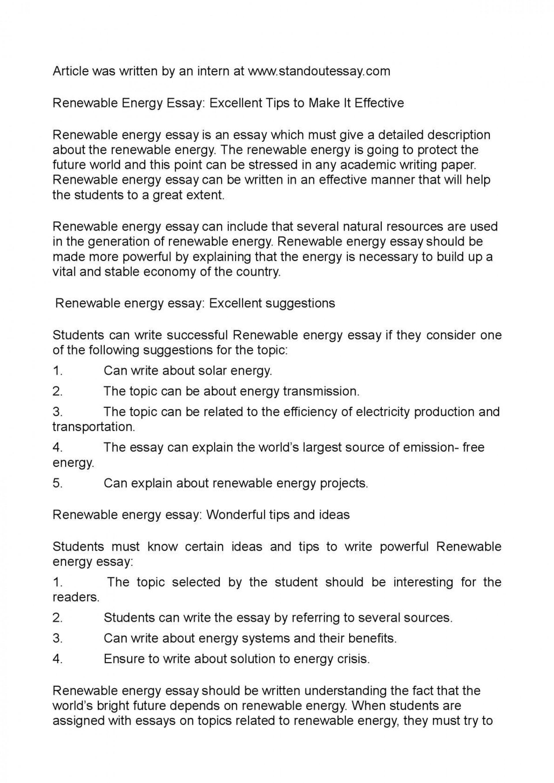 001 Essay Example Renewable Energy Unbelievable Outline Upsc 1920