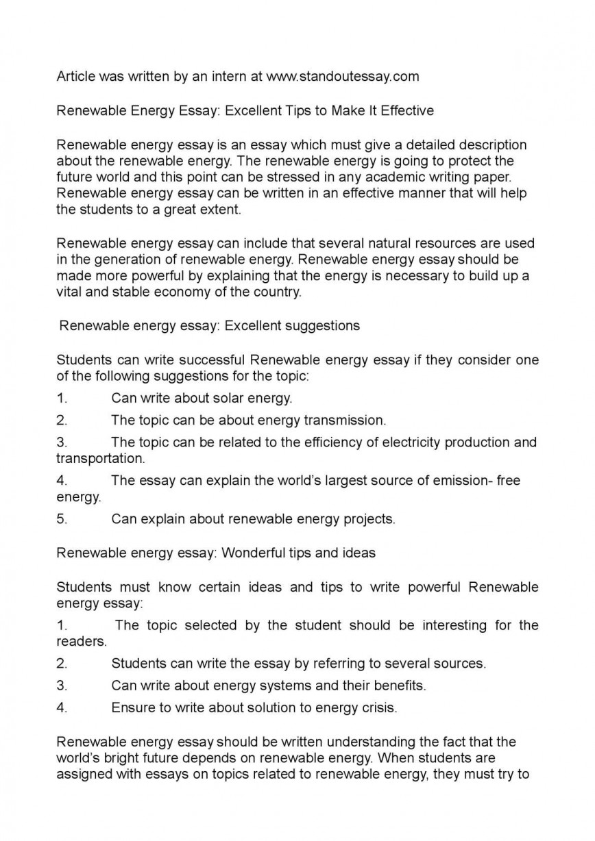 001 Essay Example Renewable Energy Unbelievable In Hindi Outline