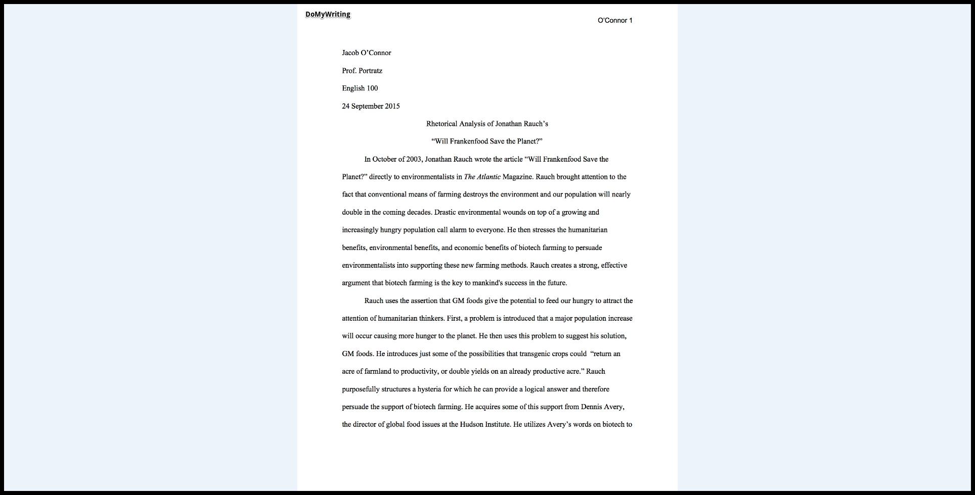 001 Essay Example Rhetorical Definition Dreaded Analysis Meaning Full