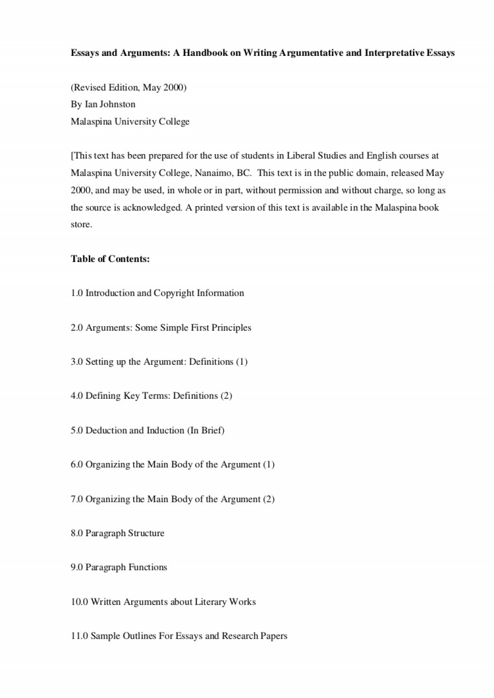 001 Essay Example Sample Interpretive Argumentativeandinterpretativeessays Phpapp01 Thumbnail Impressive 5th Grade Large