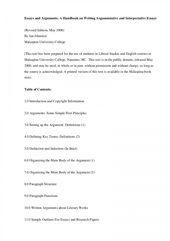 001 Essay Example Sample Interpretive Argumentativeandinterpretativeessays Phpapp01 Thumbnail Impressive 5th Grade 1920
