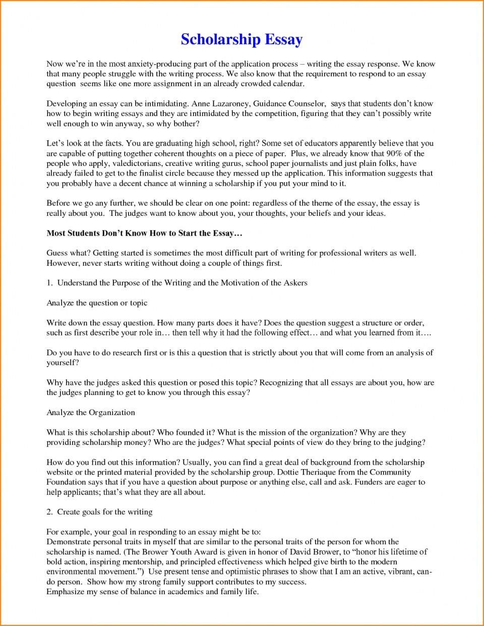 005 Short Essay Scholarships Zxsaqrl81t ~ Thatsnotus