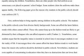 001 Essay Example School Uniforms Argumentative Sample Essaysmasters Should Students Wear Conclus Not Persuasive Conclusion All Teachers Uniform Have To Impressive Against Outline