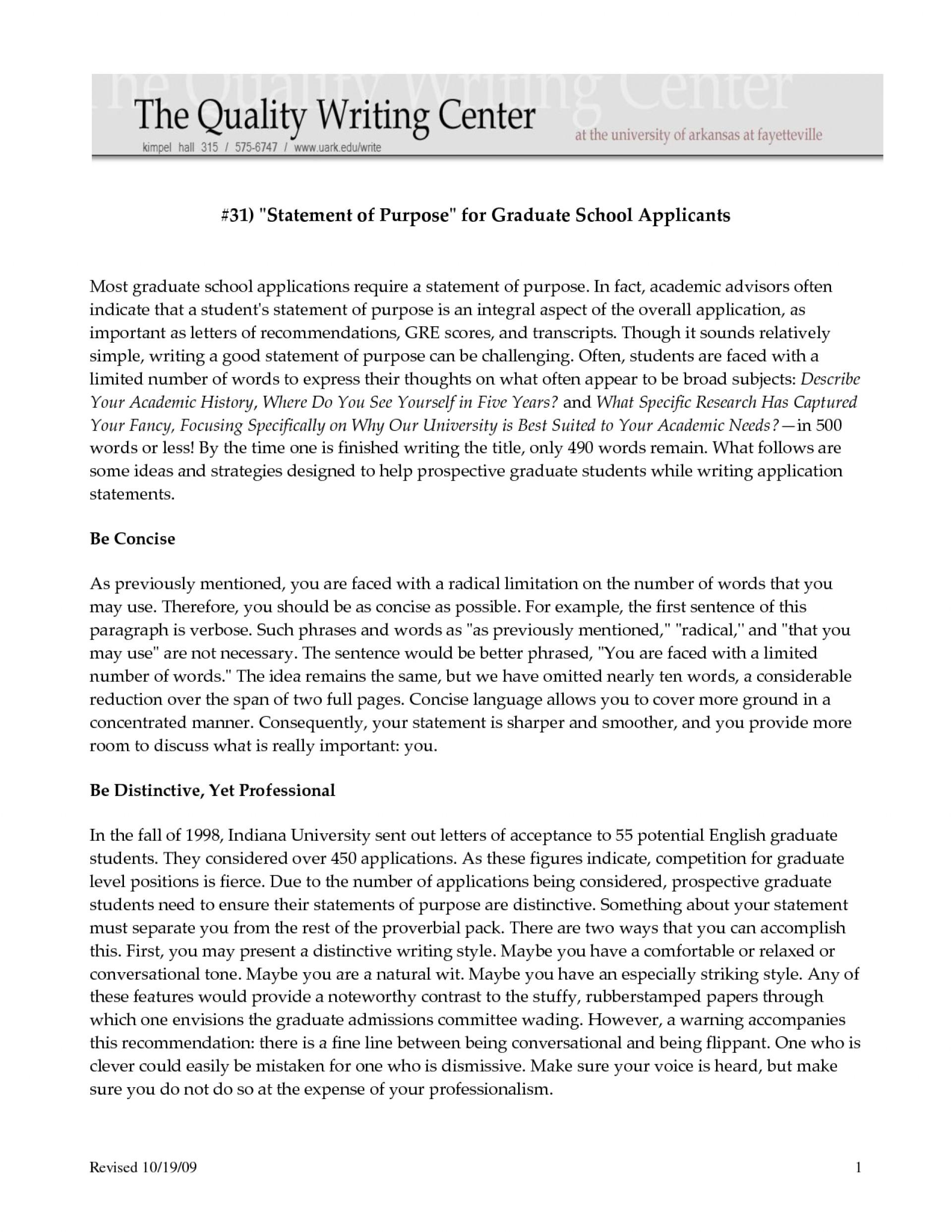001 Essay Example Statement Of Purpose Graduate School Sample Top Essays Examples Mba Nursing 1920
