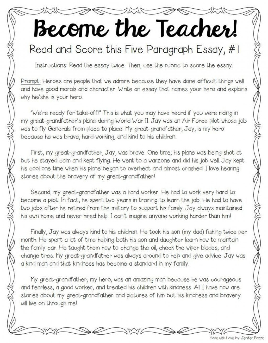 001 Essay Example Teaching Unique Writing 5th Grade To Esl Students High School Large
