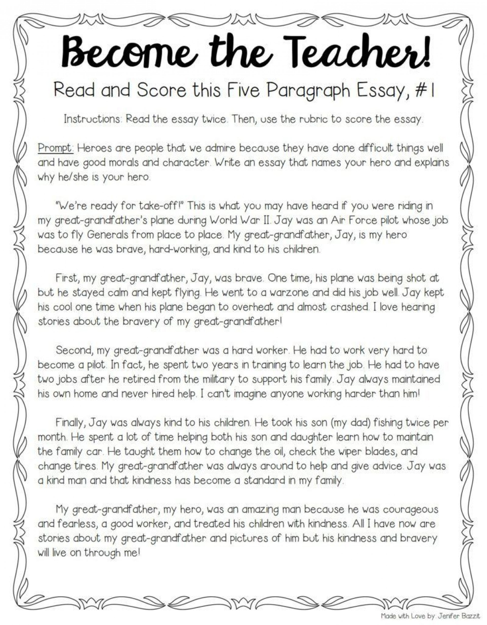 001 Essay Example Teaching Unique Writing 5th Grade To Esl Students High School 1920