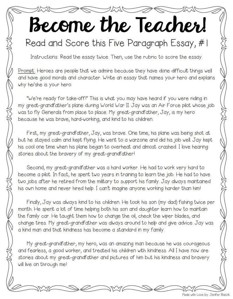 001 Essay Example Teaching Unique Writing 5th Grade To Esl Students High School Full