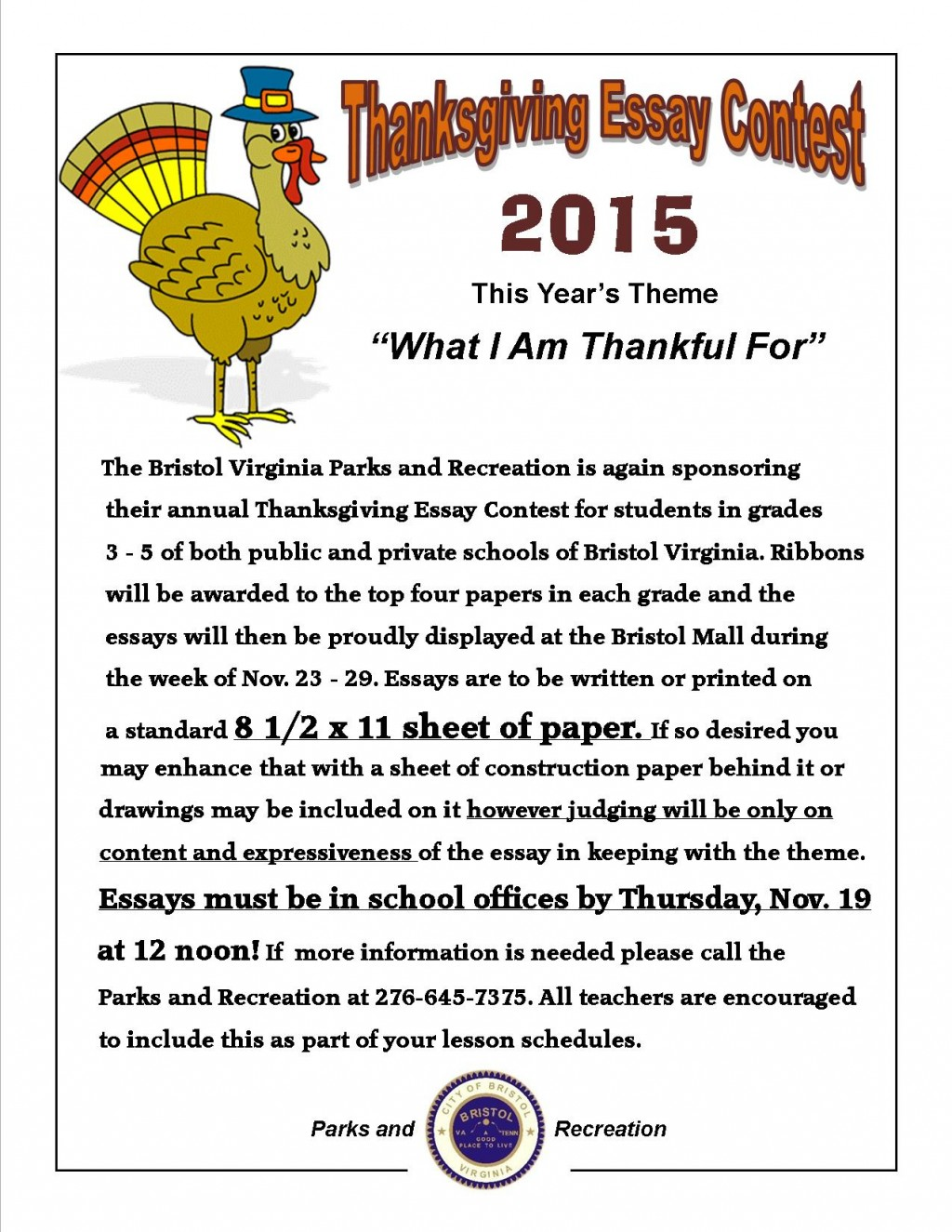 001 Essay Example Thanksgiving Fantastic Ideas For 3rd Grade Large
