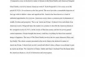 001 Essay Example The American Dream In Great Gatsby Comparative On Destructive Nature Of Dreams  5884869ab6d87f259b8b49e2 Rare Corruption Decline