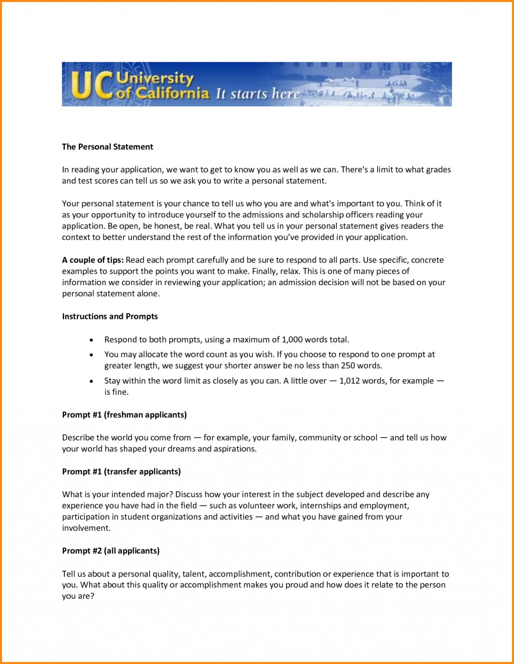 001 Essay Example Uc Transfer Application Personal Statement Workout Spreadsheet Prompt L Best Examples 2016 Prompts Large