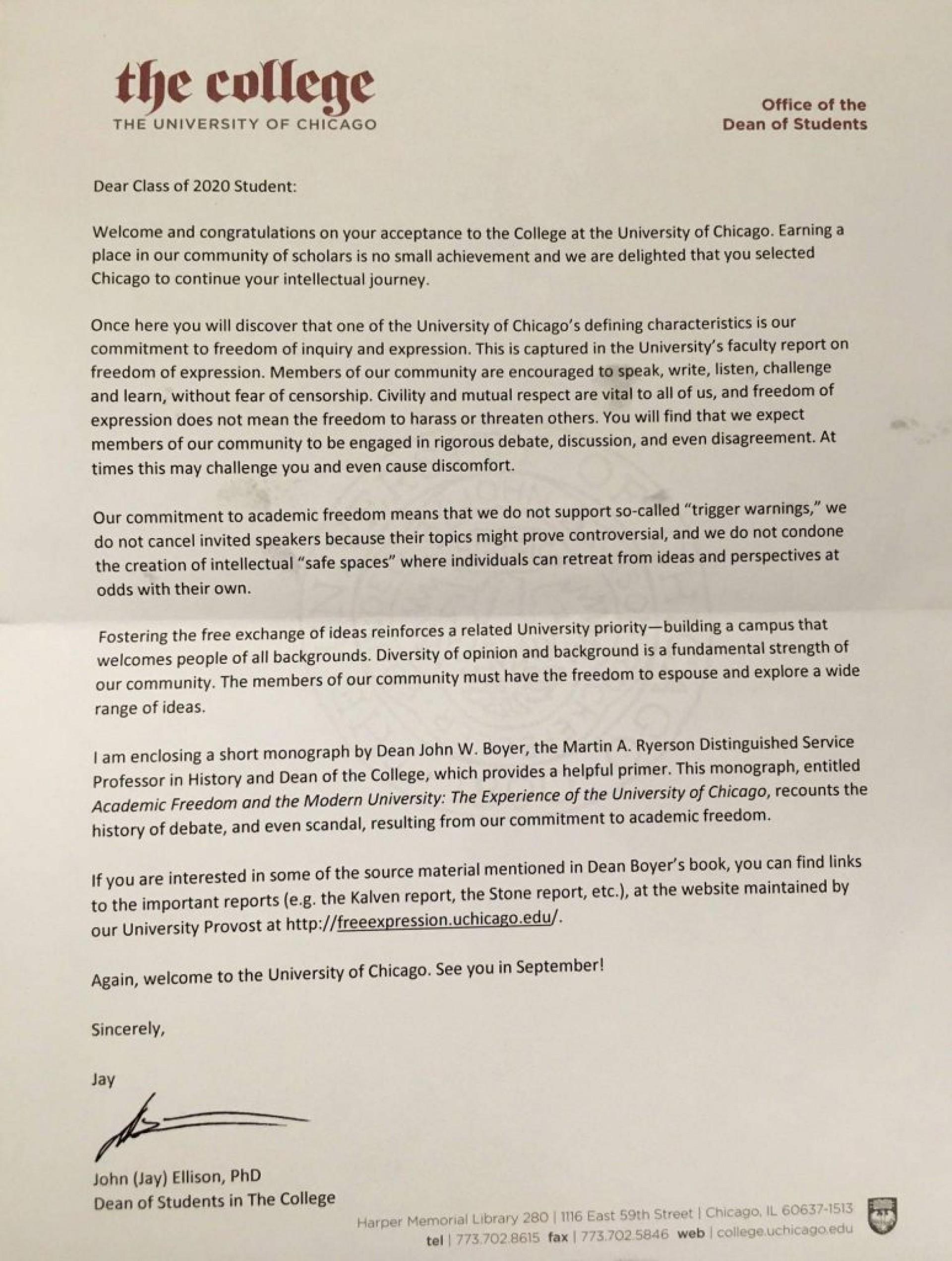 001 Essay Example Uchicago Letter Astounding Essays Law That Worked Length Reddit 1920