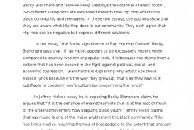 essay on the history of hip hop
