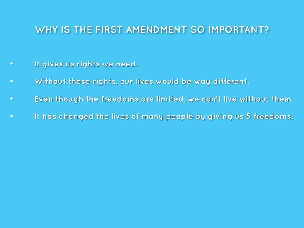 001 Essay Example Why Is The First Amendment Amazing Important Large