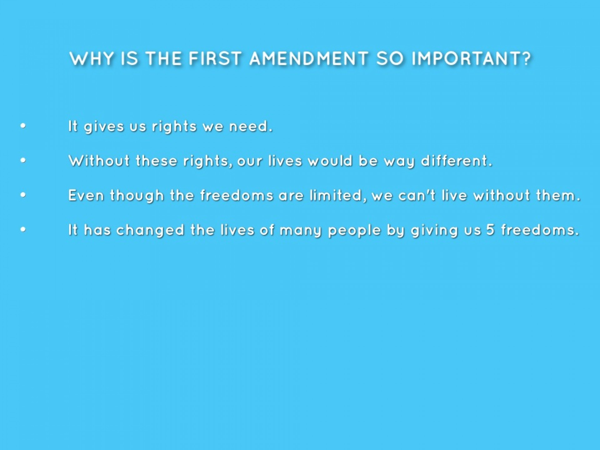 001 Essay Example Why Is The First Amendment Amazing Important 1920