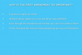 001 Essay Example Why Is The First Amendment Amazing Important