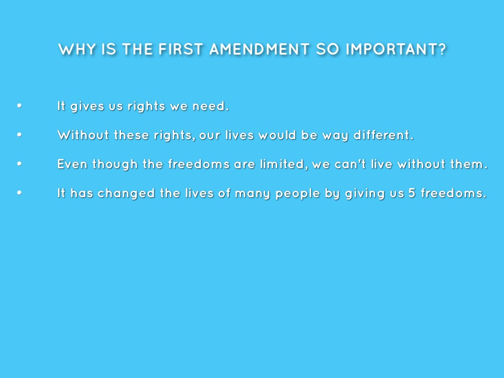 001 Essay Example Why Is The First Amendment Amazing Important Full